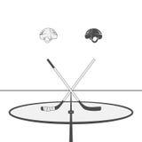 Hockey Design Elements Royalty Free Stock Image