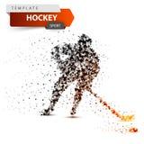 Hockey dot template. Stick and washer illustration. royalty free illustration