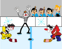 Hockey duel Stock Image