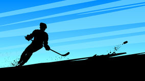 Hockey dynamic player Stock Images