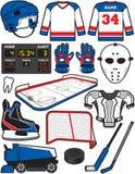 Hockey-Einzelteile Stockbild