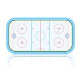 Hockey-Eisbahn. Ausführlich. Stockfoto