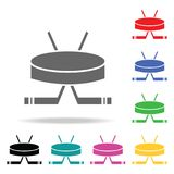 Hockey. Element of sport multi colored icon for mobile concept and web apps. Icon for website design and development, app developm. Ent. Premium icon on white Stock Images