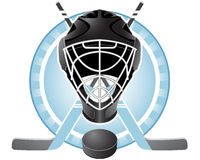 Hockey emblem stock illustration
