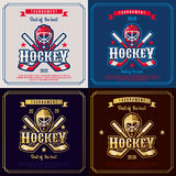 Hockey emblem. Royalty Free Stock Photography