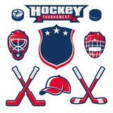 Hockey emblem design elements Stock Photo