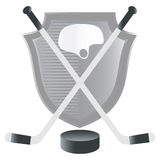 Hockey  emblem with shield. Stock Photos