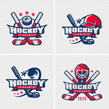 Hockey emblem template Royalty Free Stock Images