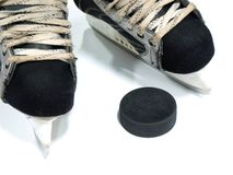 Hockey equipment Royalty Free Stock Photos