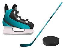 Hockey equipment Stock Image