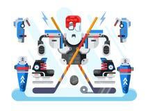 Hockey equipment set Stock Photos