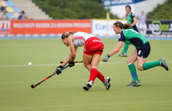 Hockey-europäisches Cup Deutschland 2011 England-V Irland Stockfotos
