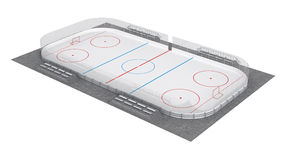Hockey field Royalty Free Stock Image