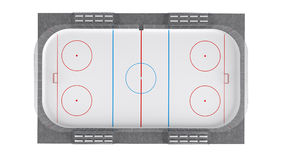 Hockey field Royalty Free Stock Images