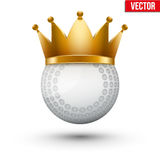 Hockey field ball with royal crown Royalty Free Stock Photo