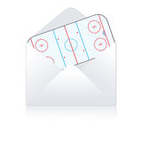 Hockey field delivery Stock Photography