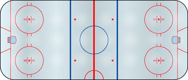 Hockey field Royalty Free Stock Photos