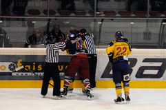 Hockey fight Stock Photo