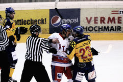 Hockey fight Stock Image