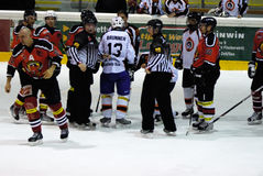 Hockey fight Royalty Free Stock Photos