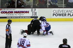 Hockey Fight stock image