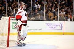 Hockey Fights Cancer! Cam Ward Stock Photo