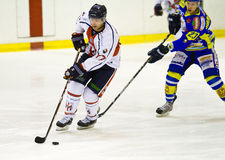 Hockey game between HC Milano and Fassa Royalty Free Stock Images