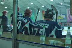 Hockey game. Match to celebrate the Day of the Marine Corps, Russia, St. Petersburg stock photos