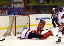 Hockey game Royalty Free Stock Photos