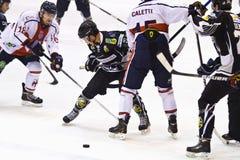 Hockey game Milano - Pontebba Stock Photos