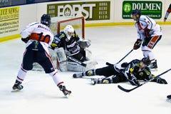 Hockey game Milano - Pontebba Stock Photography