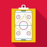 Hockey game plan icon, flat style Stock Photography