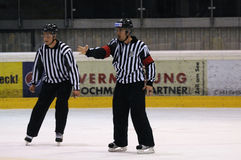 Hockey game referee Royalty Free Stock Images