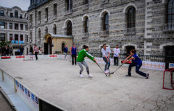 Hockey Game On Sports Festival Stock Images