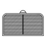 Hockey gate icon, outline style Royalty Free Stock Images
