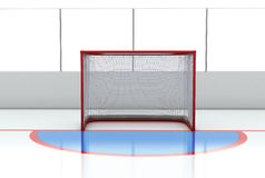 Hockey gates at hockey rink Royalty Free Stock Image