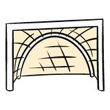 Hockey gates icon, icon cartoon. Hockey gates icon in icon in cartoon style isolated vector illustration Royalty Free Stock Image