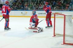 Hockey gates shifted Stock Photography