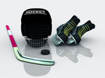 Hockey gear Stock Images