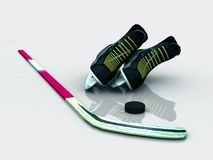 Hockey gear Royalty Free Stock Images