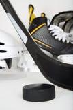 Hockey gear closeup Royalty Free Stock Photos
