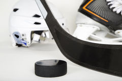 Hockey gear landscape image Royalty Free Stock Photos