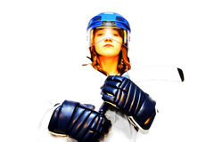 Hockey girl #2 stock photo