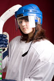 Hockey girl 2 Stock Photos