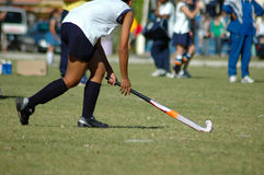 Hockey girl Stock Images