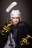 Hockey girl Stock Photography
