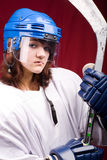Hockey girl Royalty Free Stock Photo