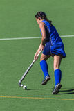 Hockey Girl Ball Running Stock Photos