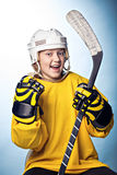 Hockey girl Royalty Free Stock Photography