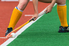 Hockey Girl Feet Ball Hands Stick Royalty Free Stock Photos